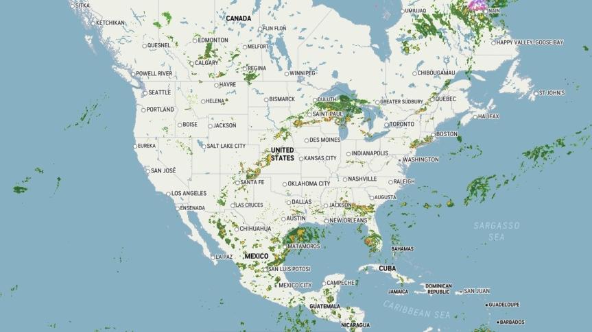 UNITED STATES NATIONAL WEATHER RADAR MAPS001